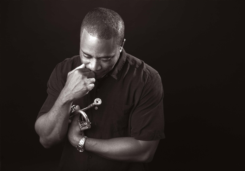 Darryl White with trumpet.