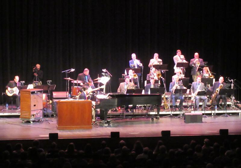 Nebraska Jazz Orchestra on stage.